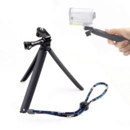 Promotion l'action vidéo prise en main Action Accessoires pour appareil photo Trépied pour Sony Action Cam HDR-AS100V AZ1 AS30V AS15V AEE grip rose