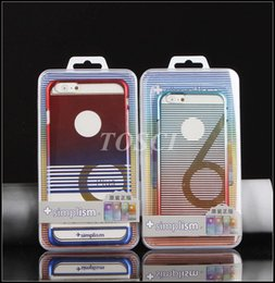 Wholesale Luxury Style Iphone Cases Gradient Ramp Colourful PC Wearable Case Cover For iphone plus Samsung S6 Transparency Protect skin