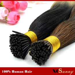 "XCSUNNY Natural Hair Extensions Keratin I-Tip Hair Extensions 18"" 20"" 100% Indiian Prebonded Human Hair Extensions 100g pack"