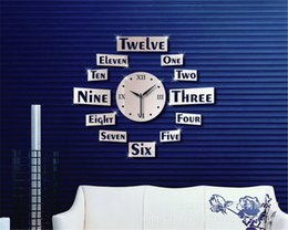Wholesale KX16 Mirror wall stickers DIY clock personality high grade living room wall Removable three dimensional Interior decorations stereo circle