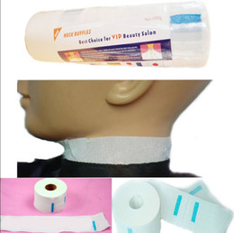 Neck Ruffle Roll Professional Hair Cutting Salon Disposable Hairdressing Collar