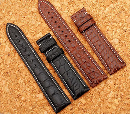 New Arrival Crocolide Leather Watchband Luxury Watch Accessories Black Brown 18mm 19mm 20mm 21mm 22mm Watch Straps Watch band Hot