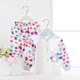 2pcs set New born gift Baby Clothing Set for 0-24M Brand 100% Cotton long sleeve shirt and pants twinset baby Underwear set