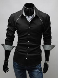 Wholesale-Free Shipping New fashion Mens shirts Hot classical business shirt men slim fit stylish dress long sleeve formal shirts
