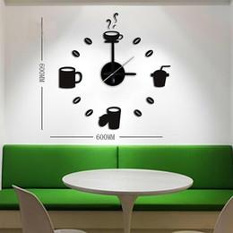 2016 new wall clock quartz watch Acrylic diy clocks Living Room 3d horloge murale Stickers relogio de parede Mugs