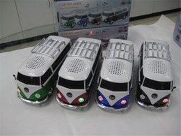 Wholesale WS Mini Portable Bus Toy Stereo Speaker Support TF Card USB MP3 Player With External Battery Subwoofer Car Speaker