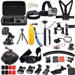 Wholesale GoPro Accessories Set Selfie Monopod With GoPro Case Bag Xiaomi Yi Go Pro Action Camera Sj4000 Sj5000 Sj6000 Sj7000
