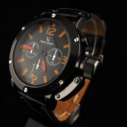 New NEW V6 SUPER BIG DIAL Luxury Sport Men Wrist Watch Vintage Leather Band ClockPocket Sport Wristwatch.PUPUG Quartz Wristwatch Men Women W