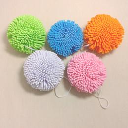 Wholesale Candy Color moroccan pouf sponge magic mesh custom shape bath sponge body wash Scrub you back