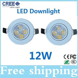 Dimmable 12W led recessed ceiling lights Warm natrual cool white led downlights bulb lamps CE ROHS