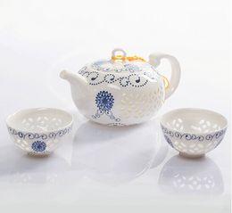 Wholesale Home decor hobby giftsCeramic Tea Sets Handpainted Kitchen Dining Bar TeaCup ChineseTravel CoffeeTea Set gifts TeaPot