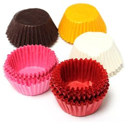 Wholesale 30pcs Original Mini Round Cake Paper Holds Greaseproof paper Muffin Cupcake Case Bakeware Maker Mold Cup Home Tools