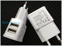 5V 2A Charger Dual USB Plug Home Wall Charger Power Adapter For iphone samsung etc. white
