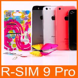 Wholesale Best RSIM PRO Super perfect R SIM R SIM PRO Unlock ALL iPhone S C G S Official IOS T mobible Docomo Sprint Verizon GSM CDMA