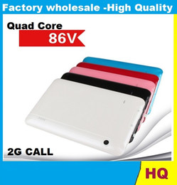 Wholesale 7inch Quad Core tablet pc V support GSM G phone call allwinner A33 cellphone SIM slot M GB bluetooth Dual Camera Tablet PC