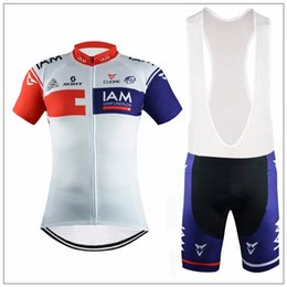 Wholesale 2016 Newest IAM Cycling Jerseys Short Sleeves Tour De France Bike Wear Compressed Polyester Bicycle Clothes XS XL