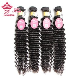 Queen Hair Peruvian Curly Virgin Hair 4pcs lot Free Shipping 100% Unprocessed Deep Wave Curly Virgin