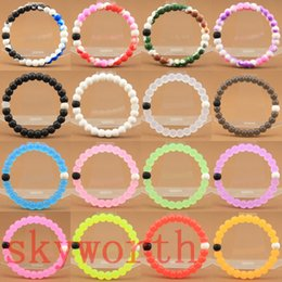 Wholesale bracelets mud water white and black bead pink Clear Blue Camo bracelets Wildlife Balance silicone bands Wristband tag loom bands