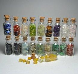 Wholesale tampion glass wishing bottle crystal stone uranolite gravel magnet glass bottle cm cm cm