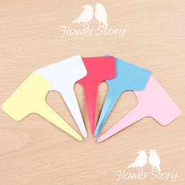 Wholesale 10Pcs Casual Plastic Plant Flower Tags Markers Nursery Garden Labels Stick Gardening Signs Card WG0017