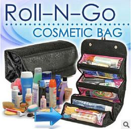 Descuento bolsas de bolsillos 2 colores 2015 Nuevo almacenamiento Bolsas Roll N Go Cosméticos Artículos de tocador Maquillaje Organizador Bolsillo Bolso de viaje de bolsillo plegable LJJC951 100pcs