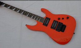 New Beautiful top DEVASTATOR orange rosewood Tremolo electric guitar in stock