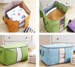 Wholesale New design Foldable Storage Bags Clothes Pillow Blanket Closet Underbed Storage Bag Environmental Protection Non wooven bag