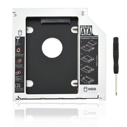 Wholesale Second HDD nd Caddy Hard Disk Drive Enclosure For Apple Macbook Pro A1278 A1286 SATA HDD to ODD DVD RW BOX mm