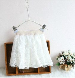 Wholesale CLEARANCE OFF LAST baby girl kids vintage lace skirt embroidery skirt flower tutu skirt floral tutu skirt pettiskirt hollow