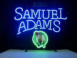 Wholesale samuel adams boston real glsss tube neon sign display beer bar handicraft signs light CLUB store gameroom