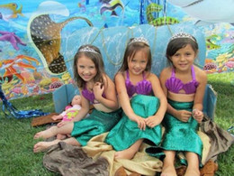 Baby Girls shell Bikini Kids Girl The little mermaid Swimwear Baby Swimsuit Ruffle Bow Princess Three Pieces Swim Cute Sequins Clothing