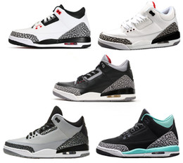 retro 3 white black cement infrared 23 basketball shoes sneakers for men women 2016 GS wolf grey Advanced Quality Version size 5.5-13