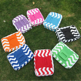 Free Shipping Wholesale Square Chevron Insulated Food Carrier Beach lunch Bag Casserole Carrier Lunch Box DOM103009