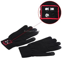 Wholesale Weave Wool Bluetooth Talking Gloves Touch Screen Gloves for Cell Phones Moblie Phones Hands Free Touch Function new arrival