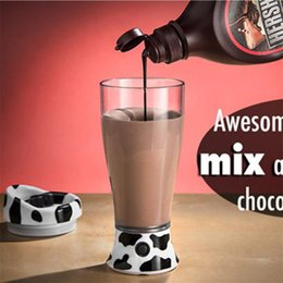 Wholesale Oz The Skinny Moo Mixer Battery Operated Chocolate Milk Mixer Cup Automatic Cow Coffee Mug Mixer