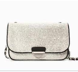 Wholesale P02 Modern Fashion Fluorescence patchwork Bicolor Leather Like Sling Bag Messenger Bags Cross Body