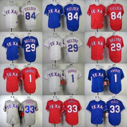 Wholesale Men s Texas Rangers Adrian Beltre Elvis Andrus Prince Fielder Martin Perez Derek Holland Baseball Stitched Jerseys