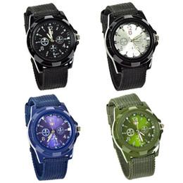 Lackingone relogio masculino Watches Men Army Soldier Military quartz-watch Canvas Strap Fabric Watch Outdoor Sport watch