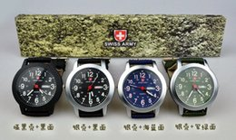 Wholesale New Military Men Swiss Army Pilot General Canvas Belt Luminous Watch With Week Calendar Sports Watch Best Gift