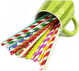 Wholesale 6000pcs Eco friendly colorful drink paper straws strip drink paper straws B02
