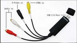 Wholesale New USB Easycap dc60 tv dvd vhs video capture card audio av easy cap adapter