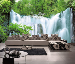 Chinese style falls can be customized Tv backdrop large big mural sofa 3d wallpaper wall stickers wall decor bedroom sitting room home decor