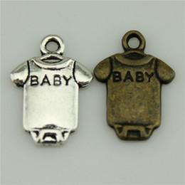 Wholesale 300pcs mm vintage colors antique silver antique bronze plated zinc alloy baby cloth charms