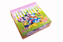 Wholesale-free shipping Children's educational toys cartoon jigsaw puzzle   Wooden puzzle   three-dimensional jigsaw puzzle