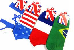 Франция человек Онлайн-Прелестное дитя Хлопок классическая японская Италия Канада Франция Бразилия Британская флаг США носки спортивный носок тапочки лодка носки Мужчины Женщины на складе