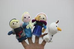 Wholesale New Set Frozen Anna ans Elsa olar Christmas Animal Finger Puppet toy Educational Toys Storytelling Doll best deal