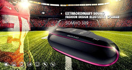 Wholesale SOMHO S309 Rugby Ball Shaped Bluetooth Speakers W W Dual Horn Portable Speakers TF Card Super Bass NFC Wireless Mini Bluetooth Speaker