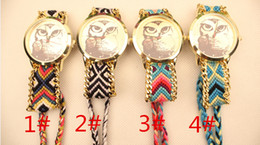 Hot Sale Fashion Geneva Quarzt Women Watches Owl Pattern Dial DHL Free Shipping