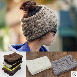 Hot Crochet Twist Knitted Headwrap Headband Winter Warmer Hair Band 10 Colors Fashion hair jewelry Drop Free 10pcs lot