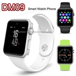Wholesale LF07 DM09 Bluetooth Smart Watch Phone SIM GSM D HD Screen Cam SmartWatch Magic Knob Sync Adsorption Charge For IOS Android Smart Phone